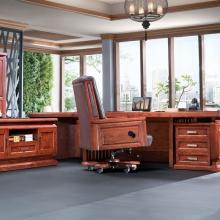 实木总裁办公桌 实木大班台 大班桌 老板桌