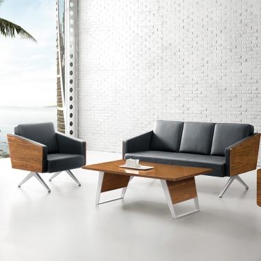 现代简约办公沙发 接待会客沙发