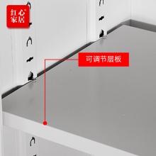 【红心家居】办公文件柜玻璃开门铁皮柜档案柜资料柜书柜凭证柜员工金属柜子 对开通玻柜