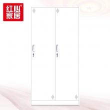 【红心家居】两门更衣柜铁皮柜带锁挂衣柜储物柜寄存箱 两门更衣柜
