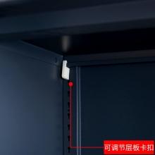 【红心家居】办公矮柜对开门文件柜资料档案柜加厚打印机柜办公室带锁小柜子 铁开门矮柜