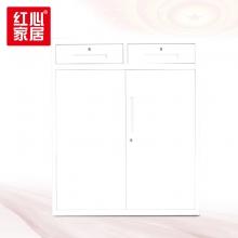 【红心家居】办公室文件资料柜二斗下节对开矮柜档案存放柜铁门柜 中二斗矮柜