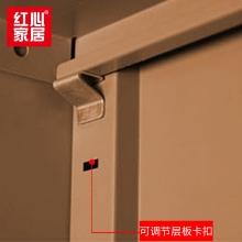【红心家居】二斗下节文件柜矮柜档案柜书柜铁皮柜带锁资料柜储物柜凭证柜 二斗下节文件柜
