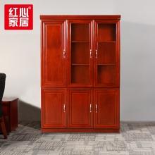 【红心家居】文件柜三门木质书柜油漆文件柜资料柜档案柜 左三门书柜
