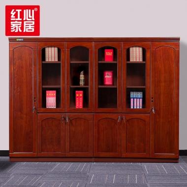 【红心家居】油漆挂衣柜书柜书橱6门文件柜办公室资料柜档案柜储物柜 六门