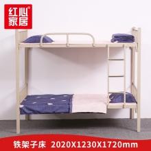 【红心家居】上下铺铁床员工宿舍床2.02米学生双层铁架床工地单人高低床 2.02米床
