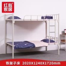 【红心家居】上下床铁艺床宿舍上下铺双层高低架子床2.02米铁床员工学生床 2.02米床